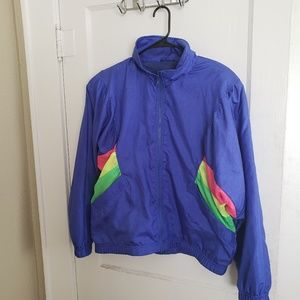 Vintage 80s neon windbreaker